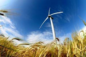 Ein Windrad symbolisiert die erneuerbaren Energien